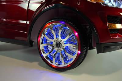 Range rover pneu avec eclairage